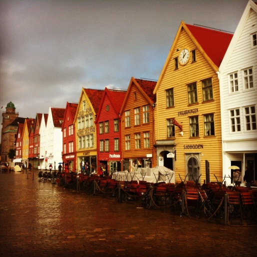 Bergen charms even when it rains